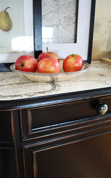 Decoupage Furniture Diy - how to decoupage a furniture makeover with paint and map