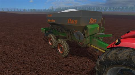 limestone  fertilizer spreader stara hercules    mf farming simulator  mods