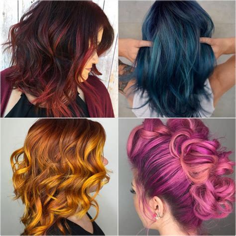balayage color rainbow balayage hair color inspiration popsugar