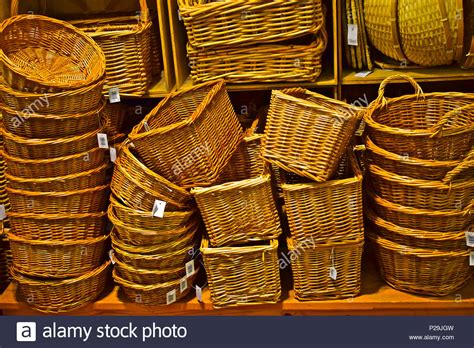 colorful woven baskets stacks of colourful woven baskets stock photos stacks of