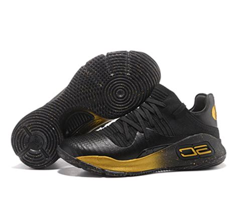 Sepatu Armour Curry 4 Low Black Gold curry 4 curry 4 release date stephen curry 4 low black gold