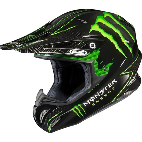 monster energy motocross helmet monster energy drink officially licensed hjc nate adams