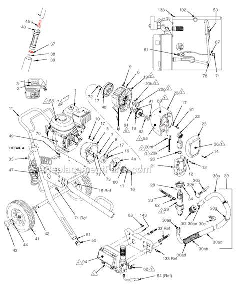graco 395 parts diagram graco 5900 parts list and diagram 233705