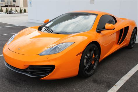 orange mclaren interior used 2014 mclaren mp4 12c spider roslyn ny