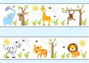 Childrens bedroom monkey elephant giraffe baby stickers decampstudios