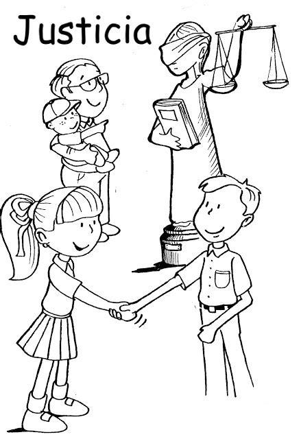 imagenes de justicia social para niños justicia dibujos para colorear