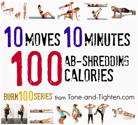 burn 100 calories in 10 minutes with this killer ab workout tone and tighten