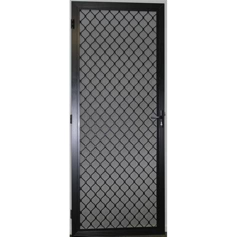 protector aluminium adjustable black security door with