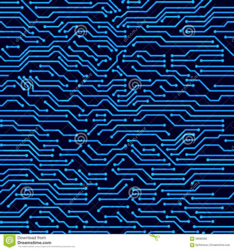 pattern technology vector circuit board seamless vector background stock vector