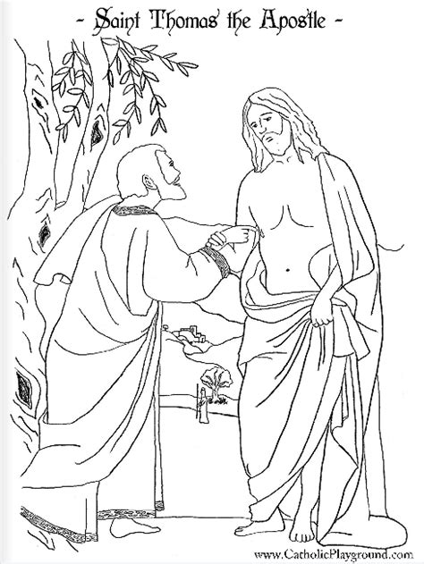 coloring page for doubting thomas saint thomas the apostle coloring page july 3rd