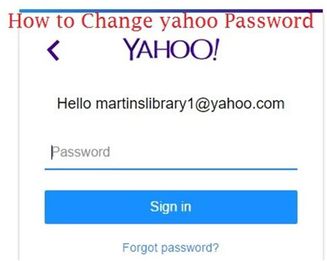 email yahoo change password change yahoo mail password reset a forgotten password