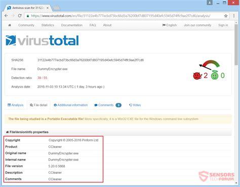 ccleaner ransomware entfernen dummyencrypter virus und wiederherstellen von