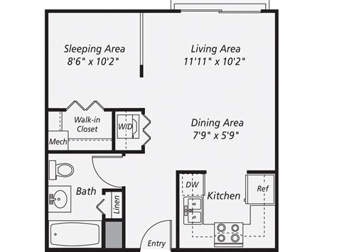 new york studio apartments floor plan