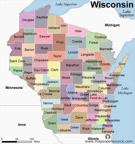 map of wisconsin counties free wisconsin counties map counties map of wisconsin state usa open source mapsopensource