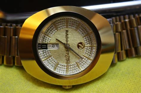 Jam Tangan Rado Gold sale koleksi jam rado diastar gold plate automatic sold