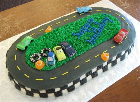 lighting mcqueen race track spiffycake cakes