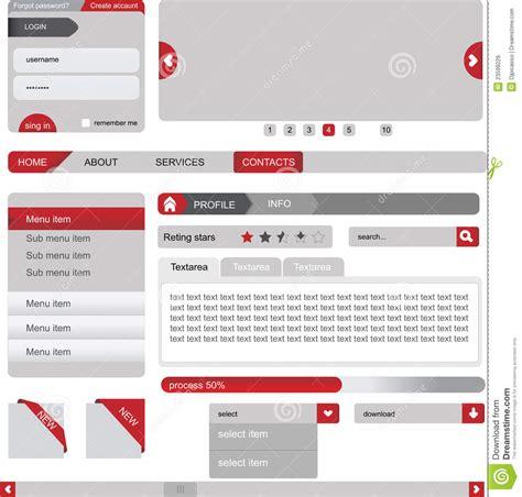 web layout elements web design elements stock vector image of chart