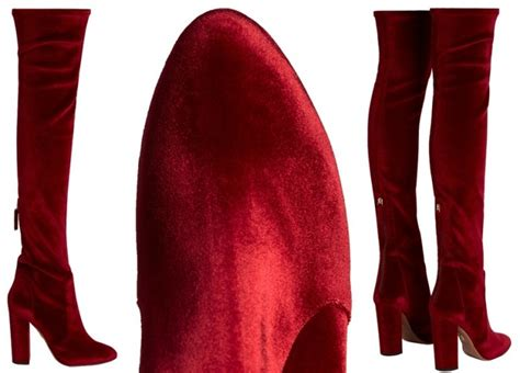 taylor swift red velvet thigh high boots newhairstylesformen2014 com taylor swift wears bordeaux boots for tommy x gigi fashion