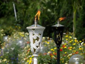 ambience garden torches pair of 2 units