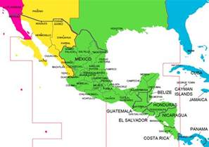 time zone america map mexico and central america time zone map with cities