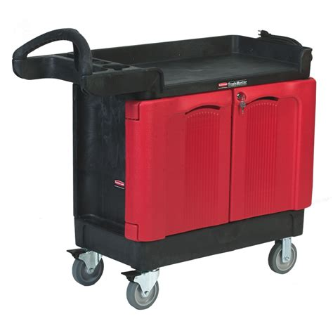 rubbermaid trademaster cart with cabinet rubbermaid 174 trademaster 174 carts with 2 door cabinets u s