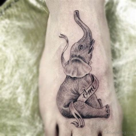 elephant dick tattoo 34 terrific elephant tattoos on foot