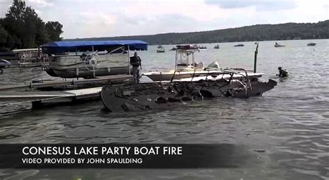 boat r updates conesus lake boat fire update youtube
