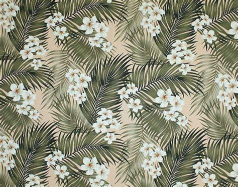 hawaiian pattern fabric plumeria palm tropical hawaiian plumeria flowers