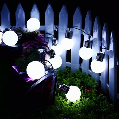 Christmas Decorations Lights G50 Solar Power String Light Solar Lights Decorations