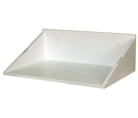small floating foldable white top wall desk storage