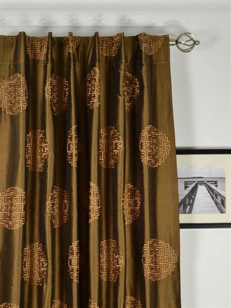 brown silk curtains brown blackout dupioni silk curtain panels traditional