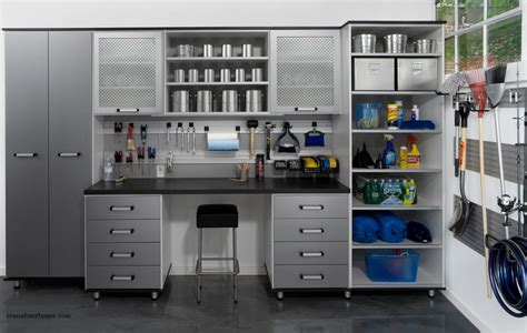 garage storage organized but still manly design - Pictures Of Organized Garages