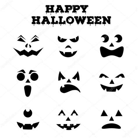imagenes de halloween a blanco y negro colecci 243 n de calabazas de halloween hab 237 a tallada siluetas