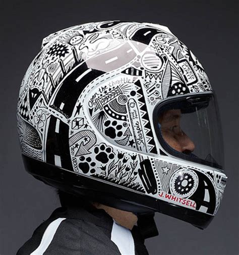 helmet design art custom hand drawn quot sharpie quot arai helmet by jody whitsell