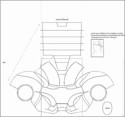 ironman mask template 5 printable ironman mask template aruar templatesz234