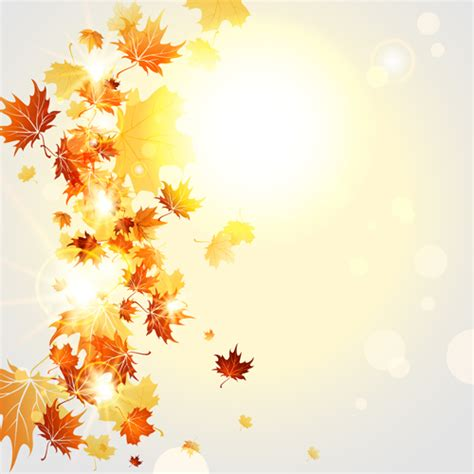 Bright Autumn Leaves Vector Backgrounds 07 Free Download Autumn Powerpoint Background