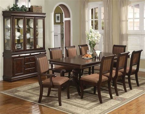 merlot 9 formal dining room furniture set pedestal