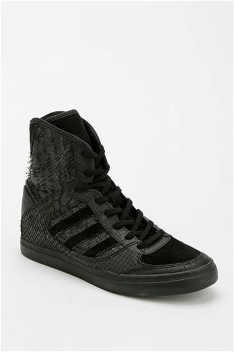adidas wedge sneakers black adidas blue wedge hightop sneaker in black lyst