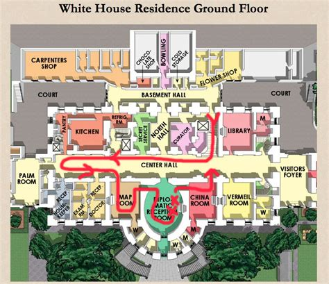 white house floor plan residence ground floor plan the white house pinterest