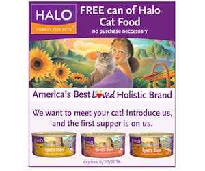 halo cat food printable coupons free can of halo cat food free product sles