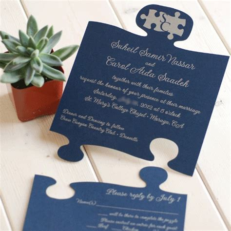 Wedding Invitation Jigsaw Puzzle by Pin By Terese Flores On So I Guess I Need To Plan A