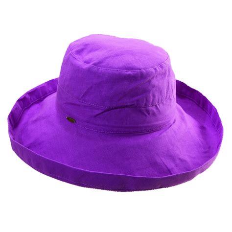 womens cotton 4 inch brim upf 50 travel sun hat by scala