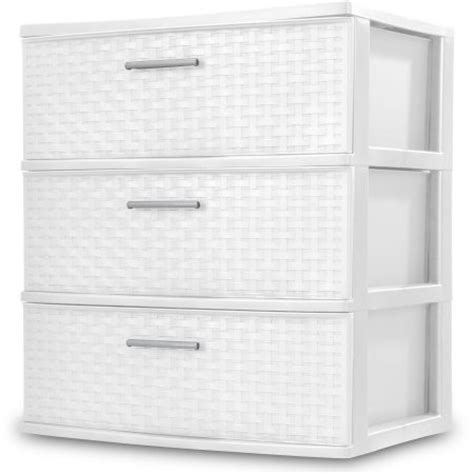 big w plastic single drawer sterilite 3 drawer wide weave tower white walmart