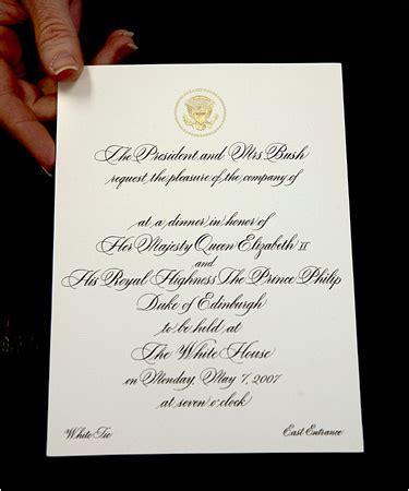 black tie attire wedding invitation for and bush will try white tie the