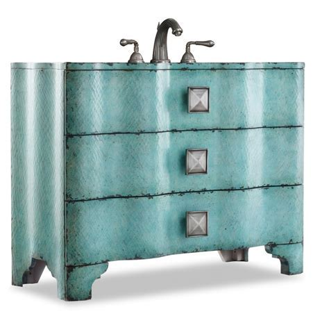 44 Inch Single Sink Bathroom Vanity with Turquoise