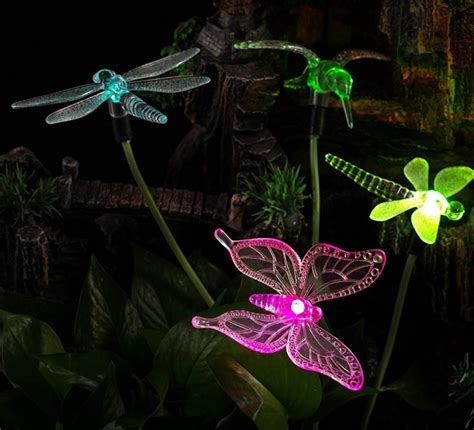Solar Powered Garden Decor Solar Powered Color Changing Outdoor Stake Lights Fresh Garden Decor