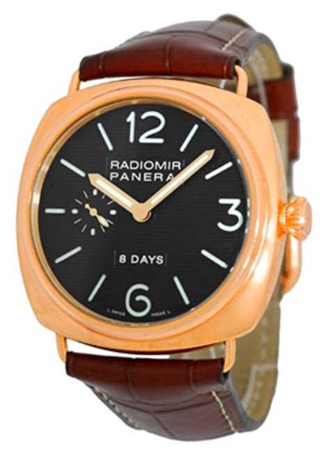 Panerai 8 Days Brown Yellow panerai radiomir 8 days pam00197 gold pam 197