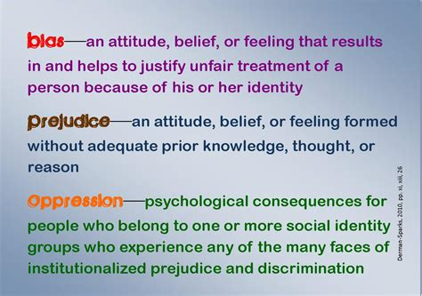the personal side of bias prejudice and oppression