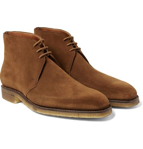 george boots george cleverley nathan suede desert boots in brown for