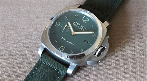 Watches Exclusively At by A Green Panerai Luminor Marina Exclusively For Harrods
